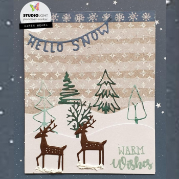 Studio Light Clearstempel Hintergrund A6 Winter Joys Clear Stamp