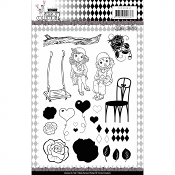 Yvonne Creations - Clearstempelset Pretty Pierrot 2