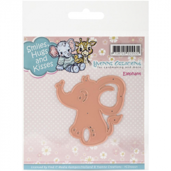 Yvonne Creations - Stanzschablone Elephant Smiles, Hugs and Kisses