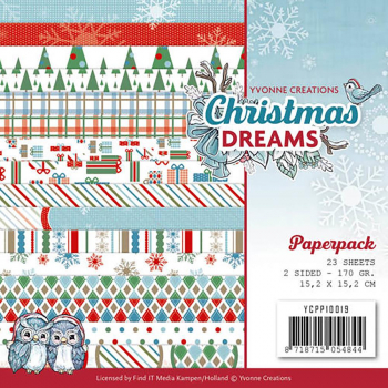 Yvonne Creations Papierblock Christmas Dreams 6x6""
