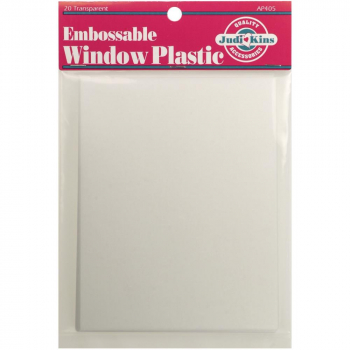 Judikins Embossable Window Plastic Sheets 11.0x14.0cm 20 Stück