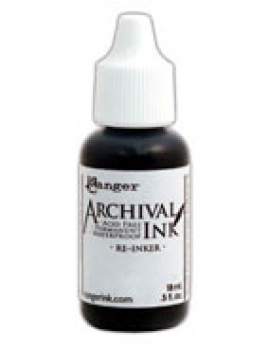 Ranger Archival Ink Reinker Jet Black 18ml