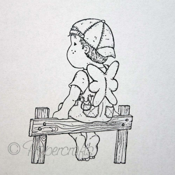 Magnolia - Sea & Summer Cling Stamp Barefoot Edwin
