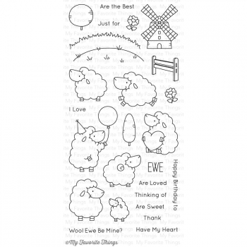 My Favorite Things - Clear Stamps Set Ewe Are the Best 4x8""