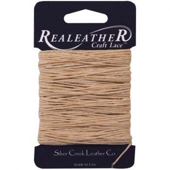 Realeather Crafts - Waxed Thread - 25yd - Tan