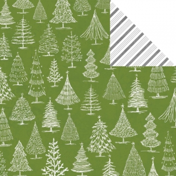 Teresa Collins - Scrapbookingpapier Candy Cane Lane Oh Christmas Tree 12x12""