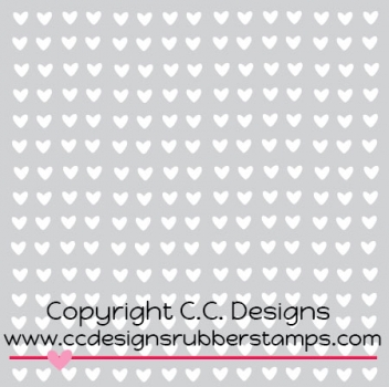 C.C. Designs - Mini Hearts Stencil