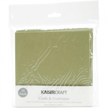 Kaisercraft - Card Pack square Olive 10 Stück