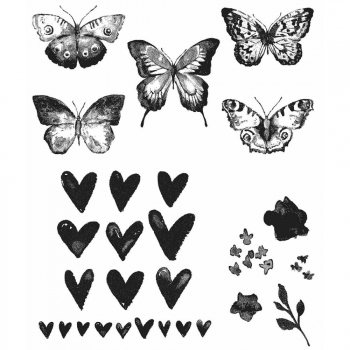 Tim Holtz - Cling Rubber Stamp Set Watercolor