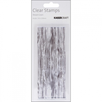 Kaisercraft - Clear Stamps Wood Grain 2x2.5""