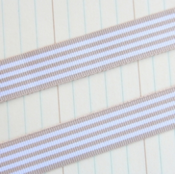 Maya Road Candy Stripes Ribbon Beige 1.5cm x 1m