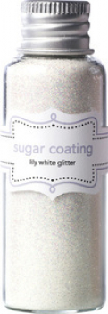 Doodlebug Design - Glitzerpulver Sugar Coating Glitter Lily White