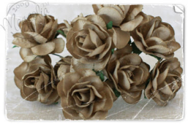 Magnolia - Vintage Brown Roses - Large