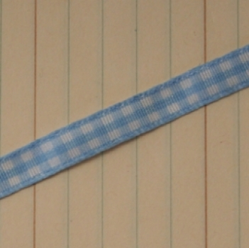 Maya Road Mini Gingham Band Candy Blue 0.7cm x 1m