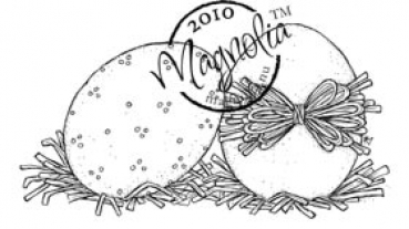 Magnolia - Clingstempel Hoppy Easter Two Eggs Cling Stamp