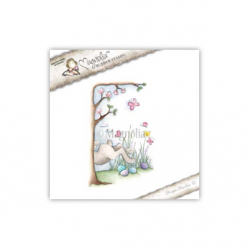 Magnolia - Hoppy Easter Cling Stamp Bunny Background