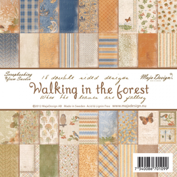 Maja Design - Scrapbooking Papierblock Walking in the Forest Paper Pad 6x6