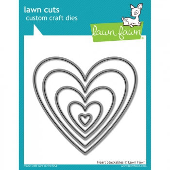 Lawn Fawn - Heart Stackables Dies