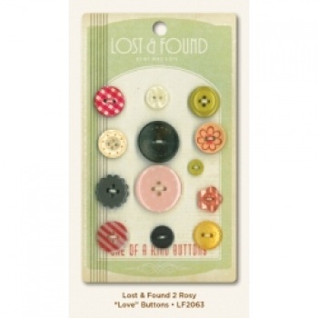 "My Mind's Eye - Lost & Found - Rosy ""Love"" Buttons"