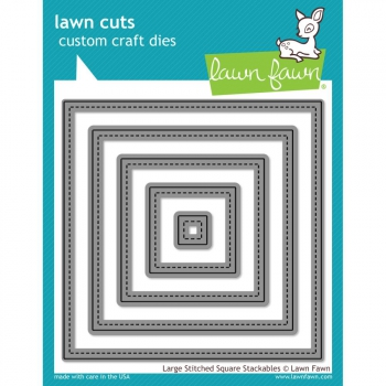 Lawn Fawn - Large Stitched Squares Dies