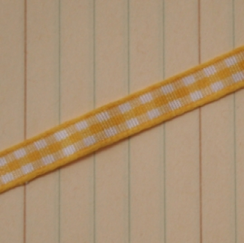 Maya Road - Mini Gingham Trim - Lemon Yellow