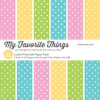 My Favorite Things - Lucky Prints Paper Pad 6x6""