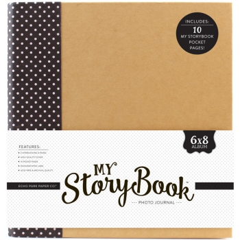 Echo Park Paper - My Story Book 2-Ring Black Dot 6x8""