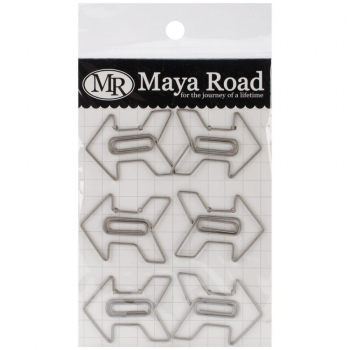 Maya Road - Vintage Metal Trinkets - Perfect Shot Arrow Clips - 6 Stück