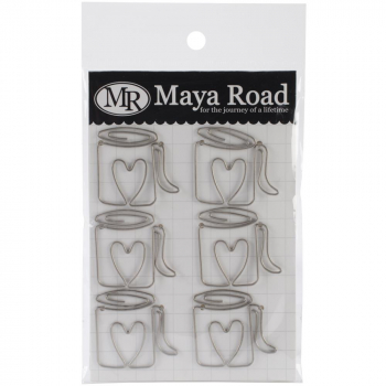 Maya Road - Vintage Metal Trinkets - Cup of Joe Clip - 6 Stück