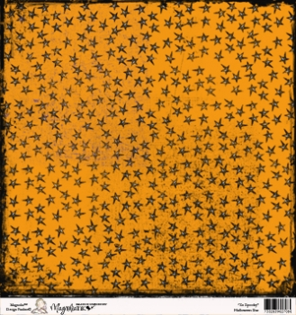 Magnolia So Spooky Collection Halloween Star Scrapbookingpapier 12x12""