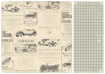Pion Design - Scrapbooking-Papier For Father Old Cars 12 x 12""