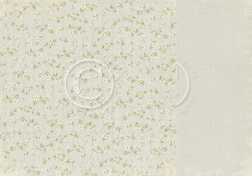 Pion Design - Scrapbooking Papier Shoreline Treasures White Blossoms 12x12