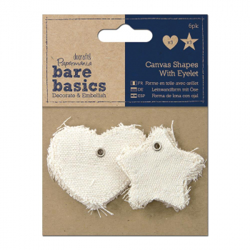 Papermania - Bare Basics Canvas Shapes