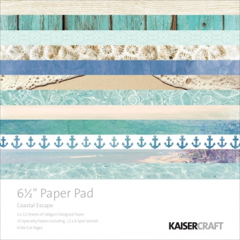 Kaisercraft - Coastal Escape Paper Pad 6.5x6.5""