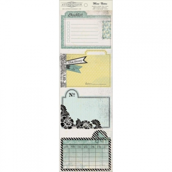 Authentique Papers - Renew - Mini Notes Double-sided die cuts 4x12""