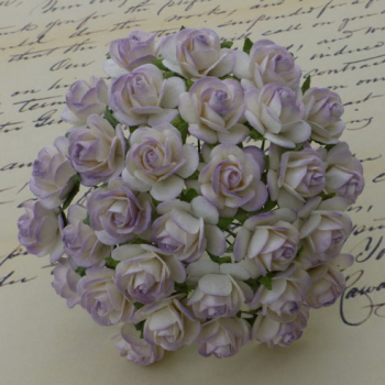 Wild Orchid Crafts - Open Roses 2-Tone Pale Lilac 2.0 cm - 100 Stück