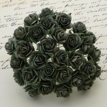 Wild Orchid Crafts - Open Roses Olive Green - 10 Stück