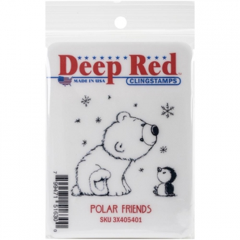 Deep Red Cling Stamps Polar Friends