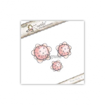 Magnolia - Cling Stamps Speckled Shabby Chic Flowers