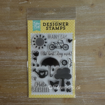 Echo Park Paper - Sunshine Clear Stamps Set 4x6""