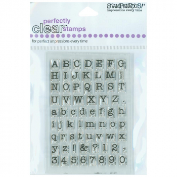 Stampendous - Clearstempelset Alphabet Small Typewriter Alphabet 3x4""