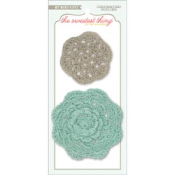"My Mind's Eye - The Sweetest Thing - Bluebell ""Every Day"" Crocheted Doilies"