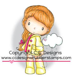 C.C. Designs - Clingstempel Swiss Little Cloudy Rubber Stamp