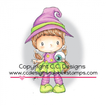 C.C. Designs - Swiss Pixie Cling Stamp Little Witch Lucy