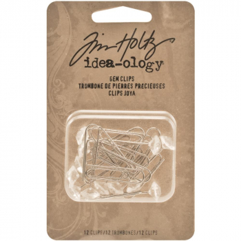 Tim Holtz - idea-ology  Gem Clips - Crystal Clear 12 Stück