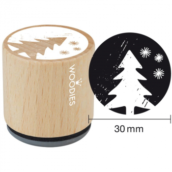 Woodies Mounted Rubber Stamps Christmas Tree