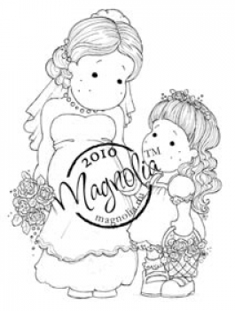 Magnolia - Wedding Collection Cling Stamp Bride and Bridesmaid