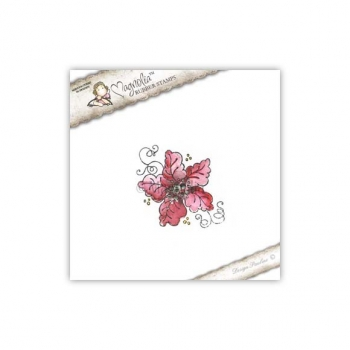Magnolia - Waiting for Christmas Cling Stamp Christmas Poinsettia