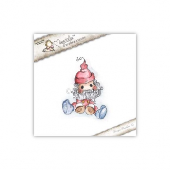 Magnolia - MINI World Rubberstamp Waiting for Christmas Little Santa (mini)