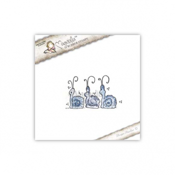 Magnolia - Waiting for Christmas Cling Stamp Three Little Christmas Snails